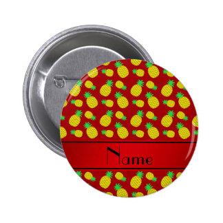 Piñas amarillas rojas conocidas personalizadas pin redondo 5 cm