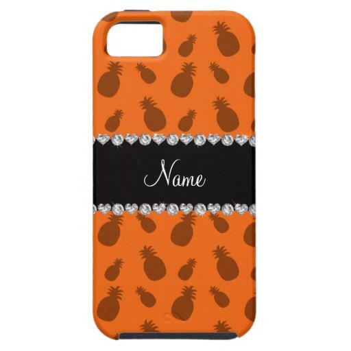 Piñas anaranjadas conocidas personalizadas iPhone 5 Case-Mate fundas