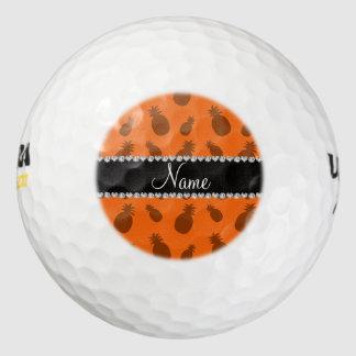 Piñas anaranjadas conocidas personalizadas pack de pelotas de golf