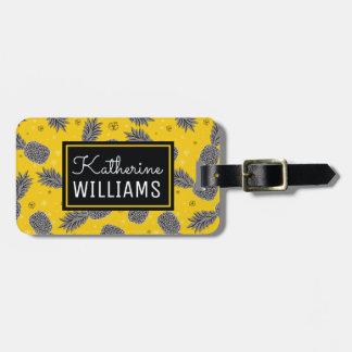 Piñas conocidas de encargo en el oro etiquetas para maletas