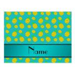 Piñas conocidas personalizadas del amarillo de la tarjetas postales