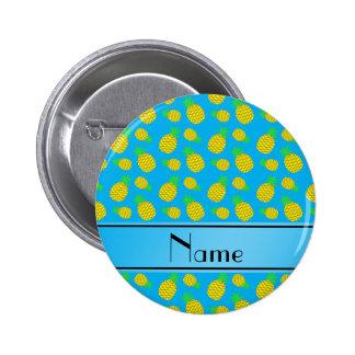 Piñas conocidas personalizadas del amarillo del pin redondo 5 cm