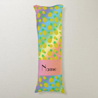Piñas conocidas personalizadas del amarillo del cojin cama