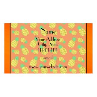 Piñas conocidas personalizadas del amarillo tarjetas de visita