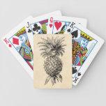 Piñas del ejemplo de la piña de los 1800s del vint barajas de cartas