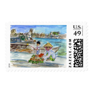 Piñas en franqueo del muelle sellos postales