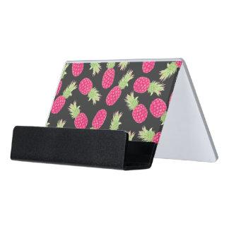 Piñas tropicales de la fresa del verano caja de tarjetas de visita para escritorio