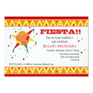 Pinata Birthday Fiesta Invitation