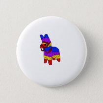 Piñata Cartoon Mexico Fiesta Horse Pinback Button