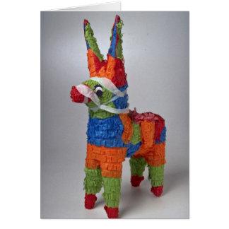 Pinata del burro del multicolor para los fiestas tarjeta de felicitación