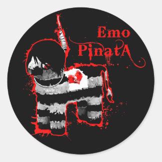 piñata del emo pegatina redonda