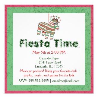 Pinata Party Invitations