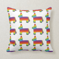 Piñata Rainbow Party Animal Mexican Fiesta Pride Throw Pillow