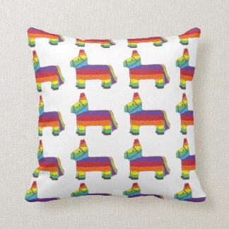 Piñata Rainbow Party Animal Mexican Fiesta Pride Throw Pillow