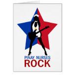 Pinay cuida la roca tarjeta de felicitación