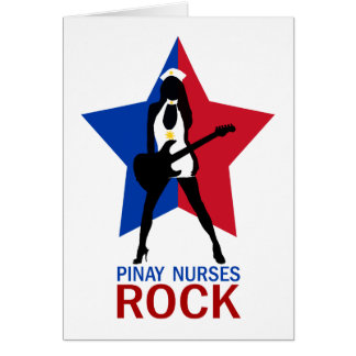 Pinay Nurses Rock Greeting Cards