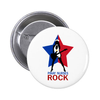 Pinay Nurses Rock Pinback Buttons