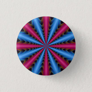 Pinback Button 16 Segments in Pink and Blue
