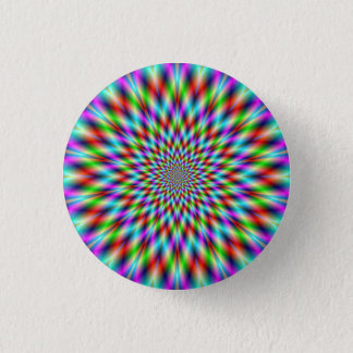 Pinback Button  Neon Star Exploding