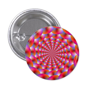 Pinback Button Spheres in Pink and Violet