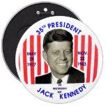 Pinback del monumento de Jack Kennedy
