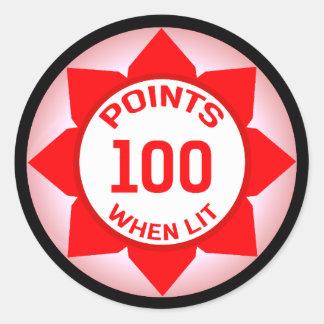Pinball 100 Points When Lit Sticker