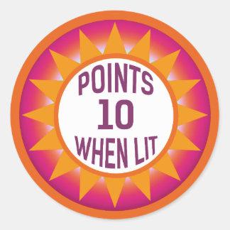 Pinball 10 Points When Lit Sticker