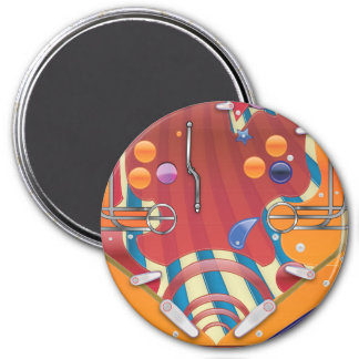 Pinball 3 Inch Round Magnet