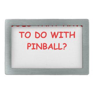 pinball rectangular belt buckles