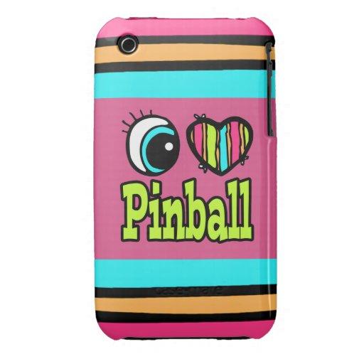Pinball brillante del amor del corazón I del ojo iPhone 3 Case-Mate Coberturas