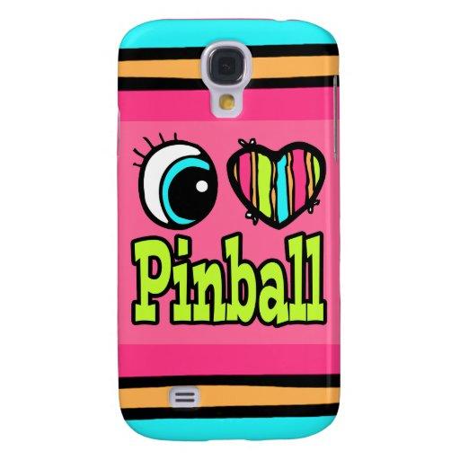 Pinball brillante del amor del corazón I del ojo Funda Para Galaxy S4