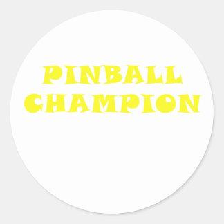 Pinball Champion Classic Round Sticker