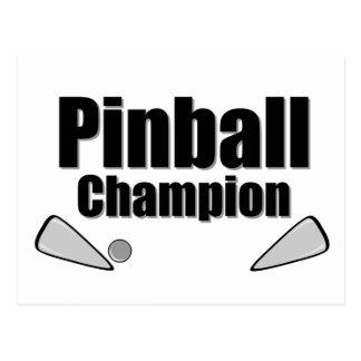 Pinball Champion Postcard