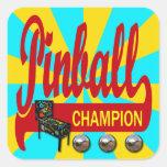 Pinball Champion Square Sticker