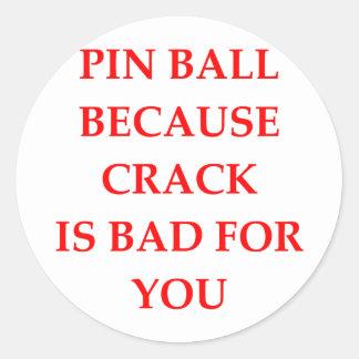 PINBALL CLASSIC ROUND STICKER