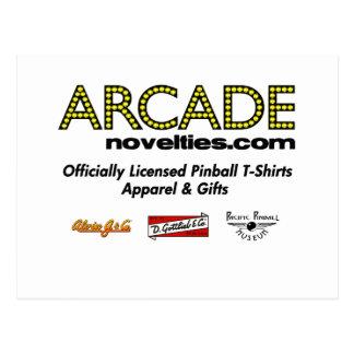 pinball de ArcadeNovelties.com Postal