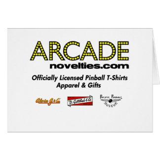 pinball de ArcadeNovelties.com Tarjeta De Felicitación