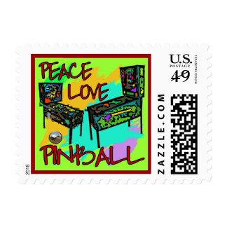 Pinball del amor de la paz timbres postales