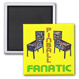 Pinball Fanatic 2 Inch Square Magnet