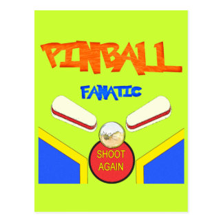 Pinball Fanatic Postcard