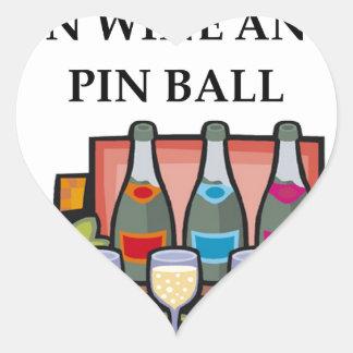 PINBALL HEART STICKER
