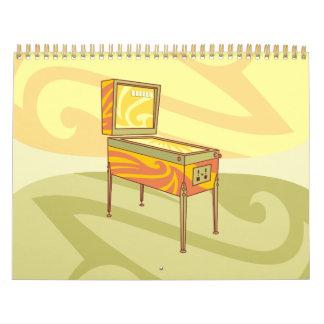 Pinball machine calendar