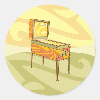 Pinball machine classic round sticker
