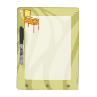 Pinball machine dry erase board