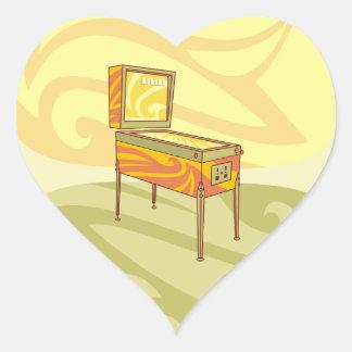 Pinball machine heart sticker