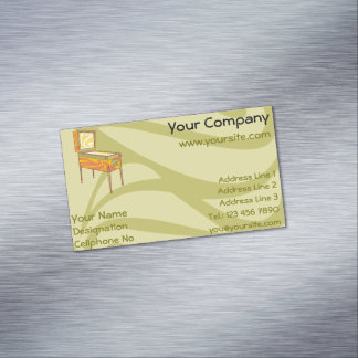 Pinball machine magnetic business card