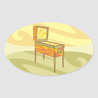 Pinball machine oval sticker