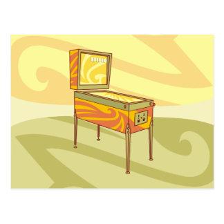 Pinball machine postcard