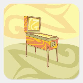 Pinball machine square sticker