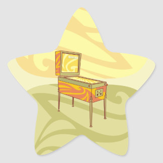 Pinball machine star sticker